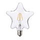 LED žárovka Filament Star E27 6W, čirá - 1/2