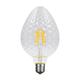 LED žárovka Filament Tera E27 6W, Čirá, Stylová stmívatelná LED žárovka vynikne především v otevřených svítidlech, v nichž se může ukázat v celé kráse. - 1/2