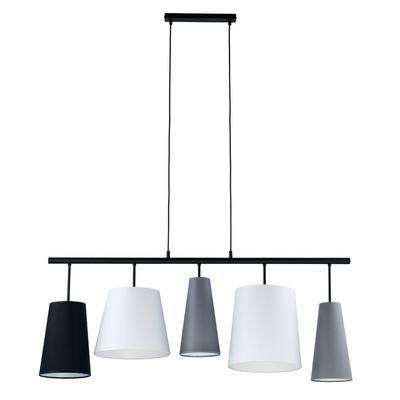 Závěsné svítidlo PEDRO, bílá/šedá/černá - 1