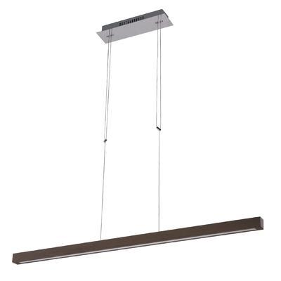 Závěsné LED svítidlo TEO, tmavé dřevo, tmavé dřevo - 1