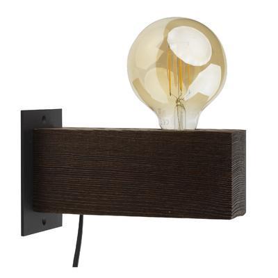 Nástěnné svítidlo ARTWOOD, tmavé dřevo - 1