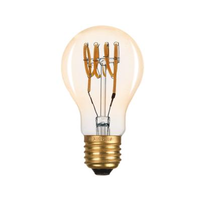 LED žárovka Filament spiral E27 6W, Jantar - 1