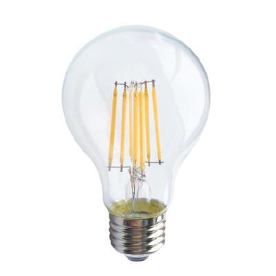 LED žárovka Filament E27 6W, Studená bílá
