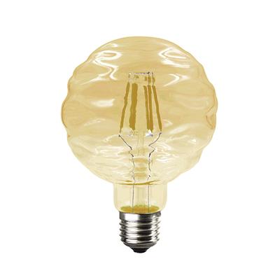 LED žárovka Filament Waft E27 6W, Jantar - 1