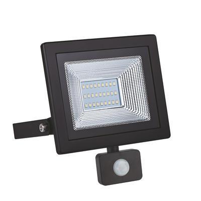 LED reflektor 20W s pohybovým čidlem - černý - 1