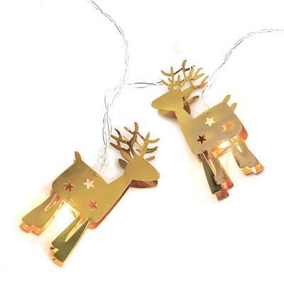 Vánoční LED řetěz Zlatý sob - 135cm