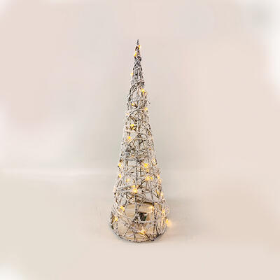 Vánočn LED ratanový kužel 60cm