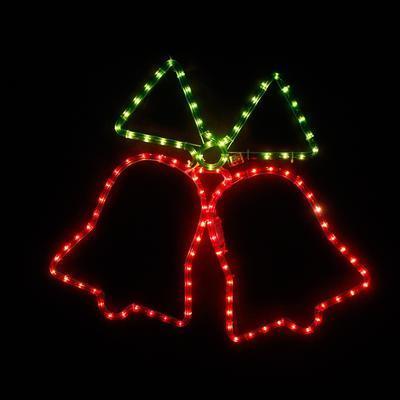 Vánoční venkovní LED dekorace Zvonky