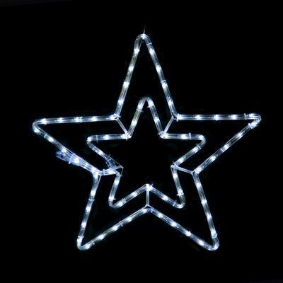 Vánoční venkovní LED dekorace Hvězda - 2 CW