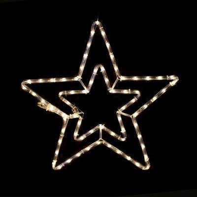 Vánoční venkovní LED dekorace Hvězda - 2 WW
