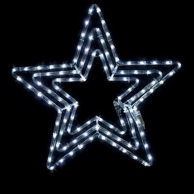 Vánoční venkovní LED dekorace Hvězda - 4 CW