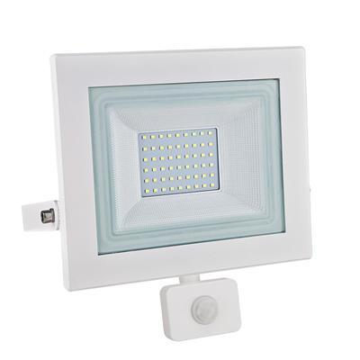 LED reflektor 50W s pohybovým čidlem - bílý - 1