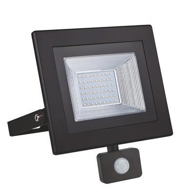 LED reflektor 50W s pohybovým čidlem - černý - 1