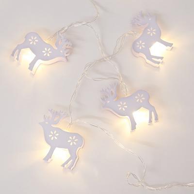 Vánoční LED řetěz bílí Sobi - 135cm