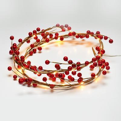 Vánoční LED řetěz Cesmína - 120cm
