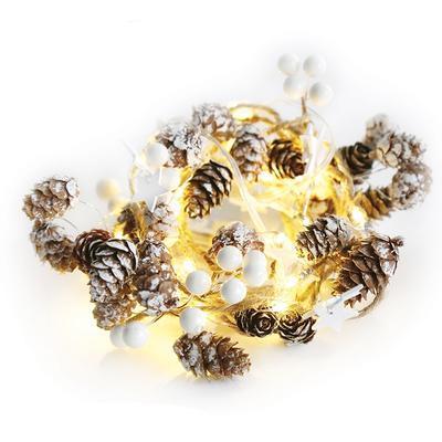 Vánoční LED řetěz Šiška - bílá - 180cm