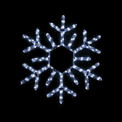 Vánoční venkovní LED dekorace Vločka - 2 CW