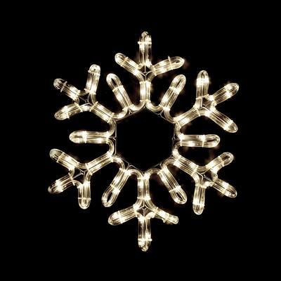 Vánoční venkovní LED dekorace Vločka - 1 WW