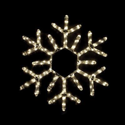 Vánoční venkovní LED dekorace Vločka - 2 WW