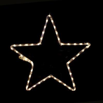 Vánoční venkovní LED dekorace Hvězda - 1 WW