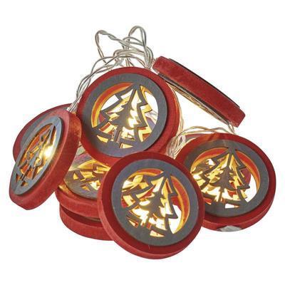 Vánoční LED girlanda Stromky s časovačem 1,35m - 1