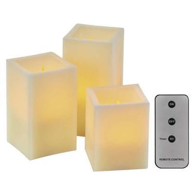 3x hranatá LED svíčka s ovladačem a časovačem - 1