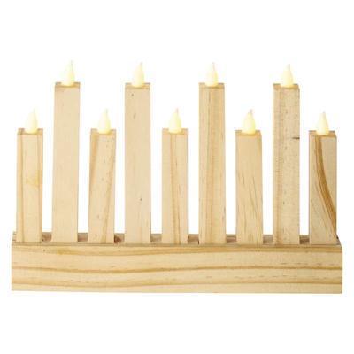 Dekorativní LED svícen 8 - dřevo - 1
