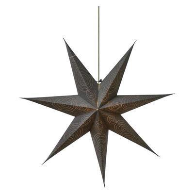 Vánoční papírová Hvězda 75cm - stříbrná - 1