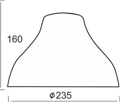 Stínidlo Anthracite - lehké tečky - 2