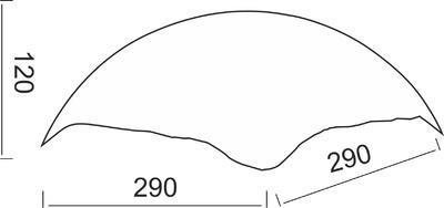 Stínidlo Shell - S - hnědé - 2