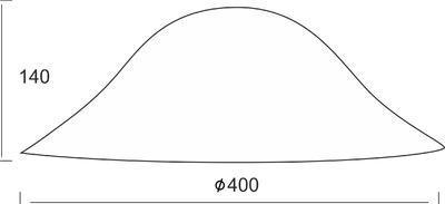 Stínidlo Bowl - L - bílé - 2