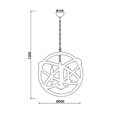 Závěsné svítidlo Rope Circle - 1 - 2