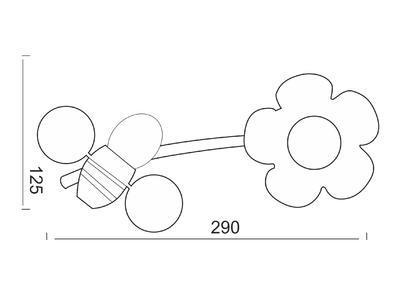Dětské svítidlo Bees - 1, 1 - 2