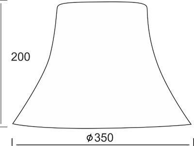Stínidlo Bell - L - hnědé - 2