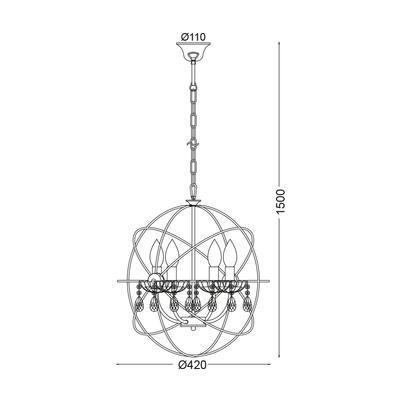 Závěsné svítidlo Sphere - S - 2