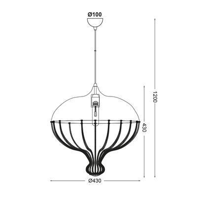 Závěsné svítidlo Corset - 1 - 2