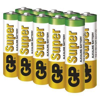 Alkalická baterie GP Super AA 10ks - 2