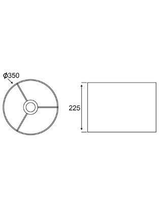 Stínidlo Round - L - bílé - 2