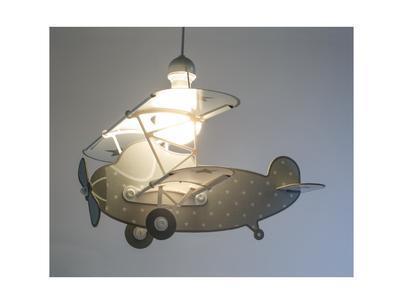 Dětské závěsné svítidlo Star Plane, šedá - 2