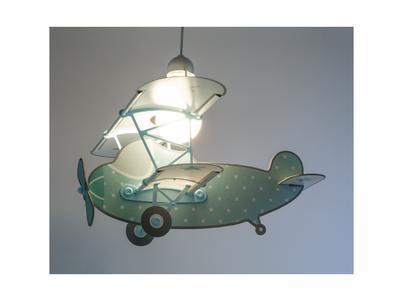 Dětské závěsné svítidlo Star Plane, zelená - 2