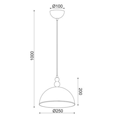Závěsné svítidlo Marble - 1 - S - 2