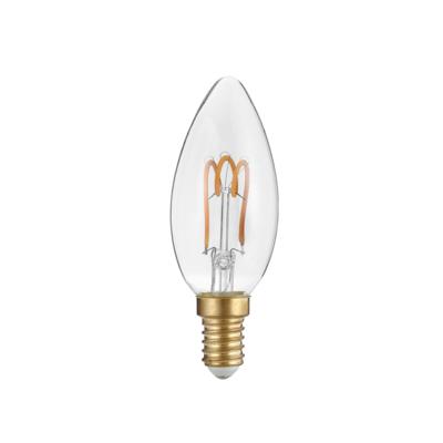 LED žárovka Filament spiral Candle E14 3W, Čirá - 2