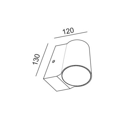 Fasádní LED svítidlo Cup - 2