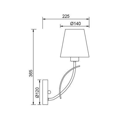 Nástěnné svítidlo Loop - 2