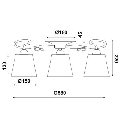 Stropní svítidlo Silvery - 1 - 2