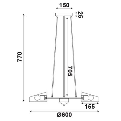 Závěsné svítidlo Grater - 1 - 2