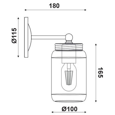 Nástěnné svítidlo Jar - 2