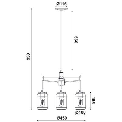 Závěsné svítidlo Jar - 1 - 2