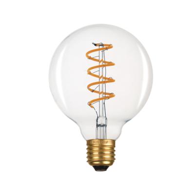 LED žárovka Filament spiral E27 O95 6W - 2