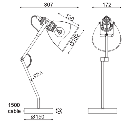 Stolní lampa Graphite - 2